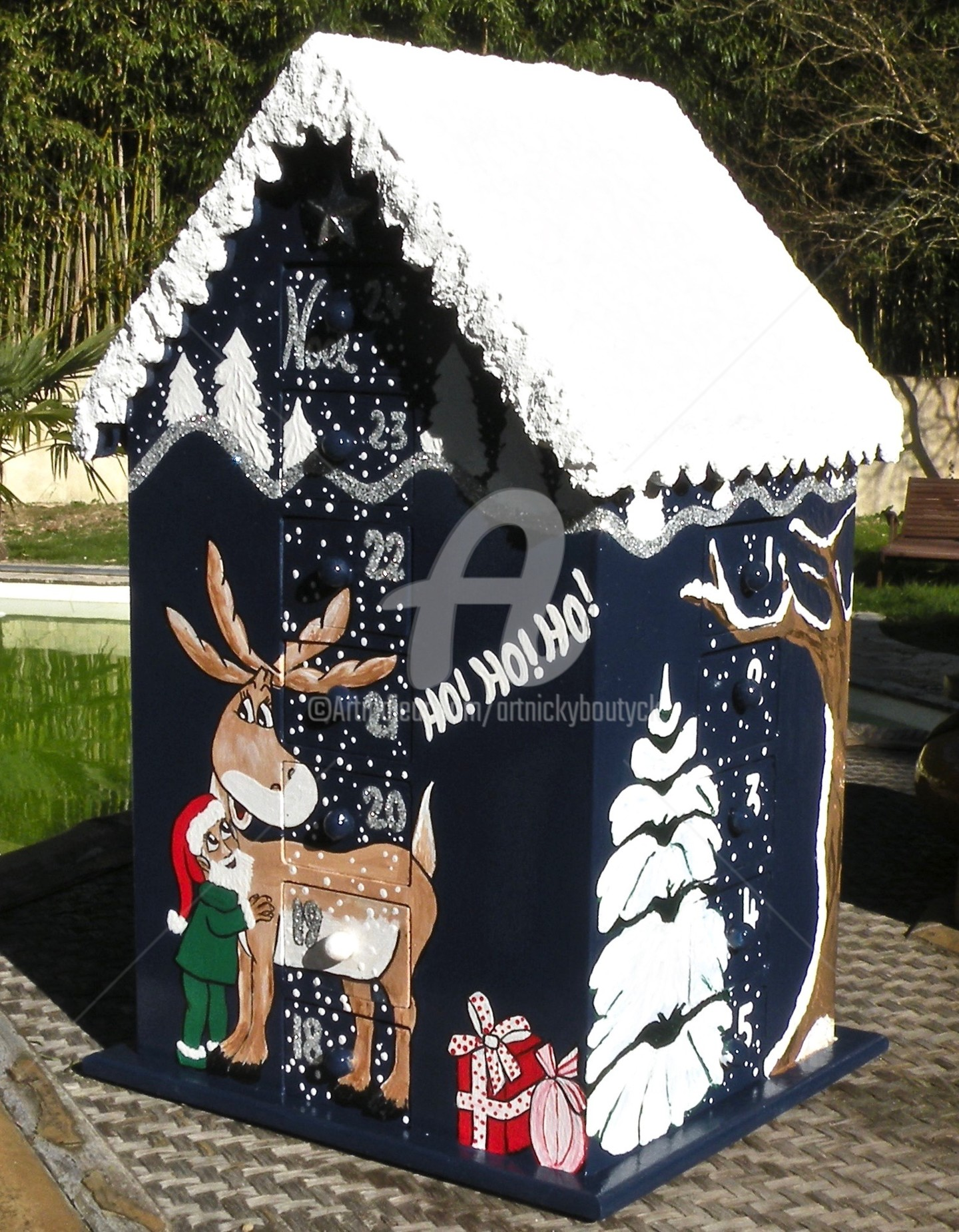 Art-Nicky - Christmas Calendrier de l'Avent bois (105)