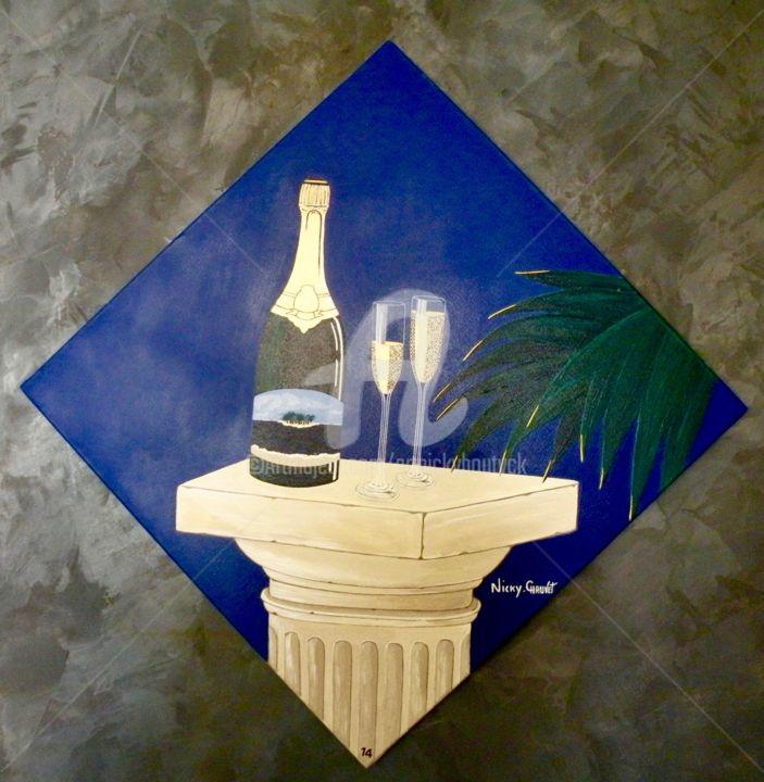 Champagne à deux- peinture Réf/14