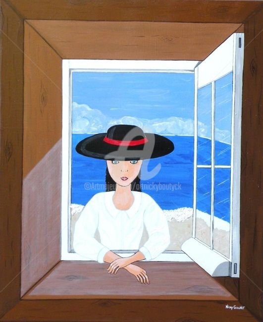 Une jeune fille à la fenêtre